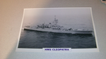 HMS Cleopatra 1964 British warship framed picture